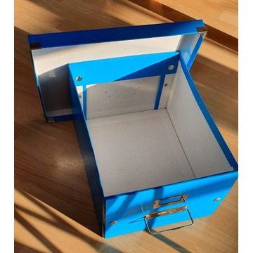 4x pudełka biurowe Leitz (niebieskie)