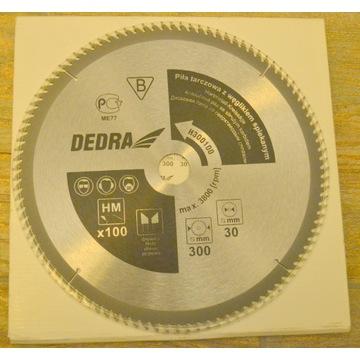 piła tarczowa DEDRA 300x30 100z z węglikiem