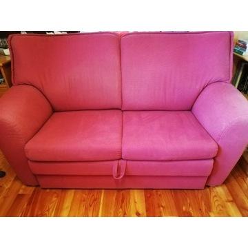 Komplet sofa dwuosobowa z funkcją spania i fotel