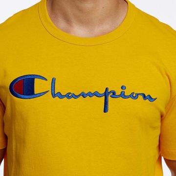 T-shirt Champion Reverse Weave Musztardowy roz. M