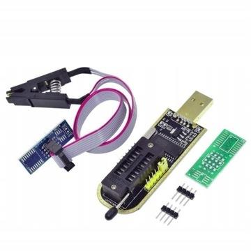 PROGRAMATOR BIOS CH341A EEPROM FLASH USB + KLIPS