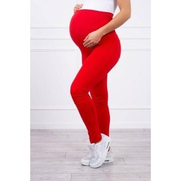 Spodnie ciążowe bawełniane czerwone L
