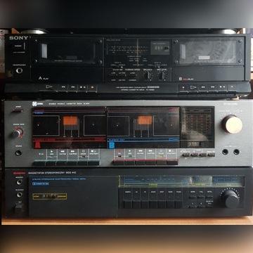 Magnetofony , Deck Unitra, ZRK ,Sony