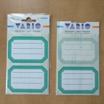 Herma naklejki na zeszyty i książki zielone Vario