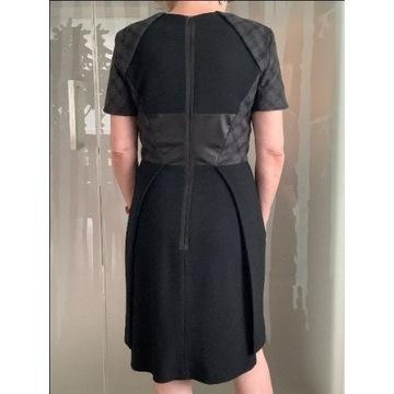 Przepiękna szaro-czarna sukienka Spotmax