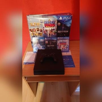 Play Station PS4 500 gb 1,5 r malo uzywane + 3 gry