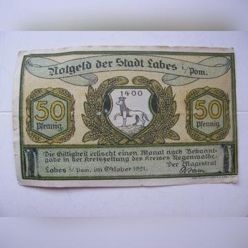 nutgeld Labes 50 pfennig 1921r