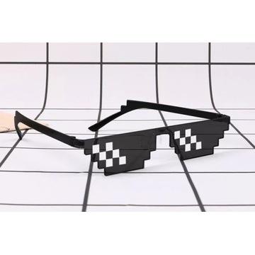 Okulary przeciwsłoneczne mozaika piksele Thug Life