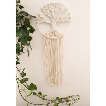 drzewko szczęścia ,makrama ścienna, dekoracja BOHO