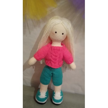 The doll in the style of Tilda.