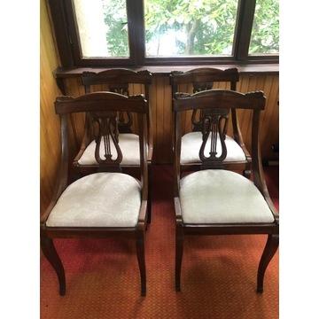 krzesła orzechowe biedermeier 1830, oryginalne