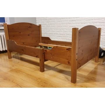 Łożko dziecięce rozsuwane Ikea Ateles z materacem