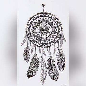 Łapacz snów tatuaż tymczasowy zmywalny fake tatoo