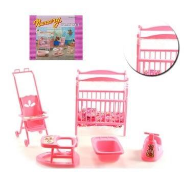 EduCORE Pokój dziecięcy dla lalki chodzik wózek