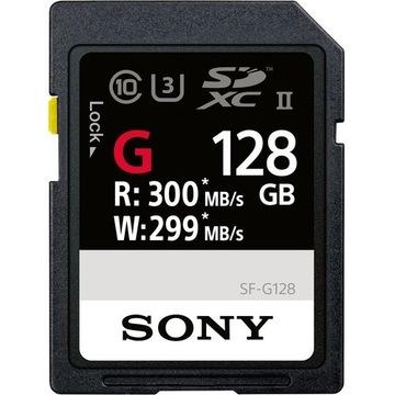 Karta pamięci Sony SF-G SDXC 128GB UHS-II 300mb/s