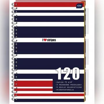 Kołozeszyt Interdruk B5 120 kratka