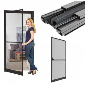 Moskitiera ramowa na drzwi 100x215 aluminiowa rama