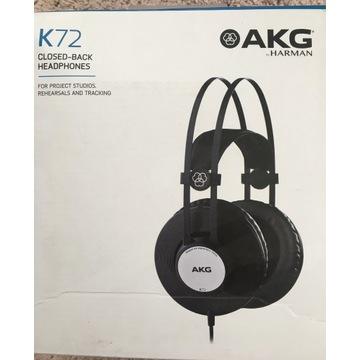 Słuchawki AKG K72 wokółuszne 1z2 uszkodzona