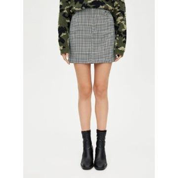 Spódniczka Spódnica mini w kratkę Pull&Bear S