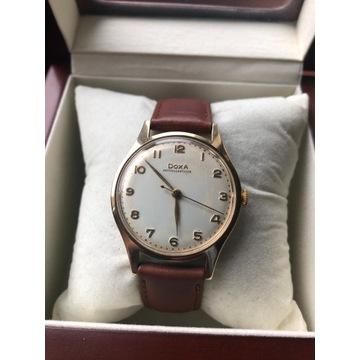 DOXA - klasyczny, złoty zegarek, próba 585