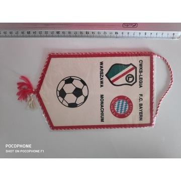 Proporczyk Legia Warszawa - Bayern 1988