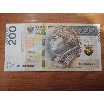 Banknot 200 zł seria AR