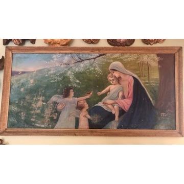 obraz olejny Matka Boska