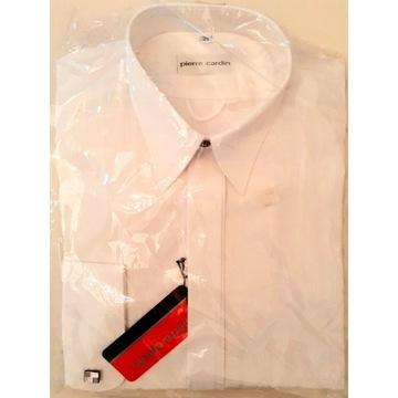 Pierre Cardin koszula męska biała ze spinkami 39