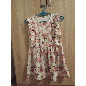 Włoska sukienka na r.140 na 10-11 lat + Polarek