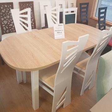 Stół ZAOWAL + 4 stylowe krzesła