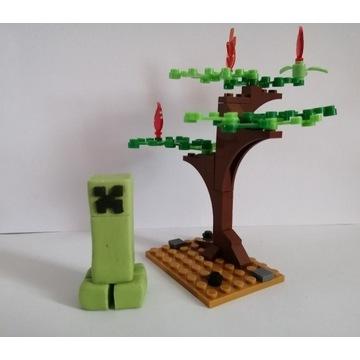 Minecraft Creeper masa cukrowa na tort 5.5cm