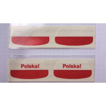Gadżet kibica NaklejkiNaTwarz flaga polska komplet