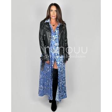 Minouu sukienka Grace Kelly blue flowers