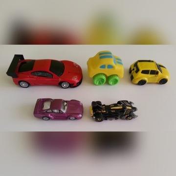 autka resoraki Hot Wheels rozkładane zestaw 5 szt.