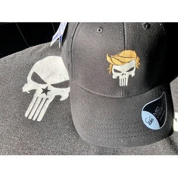 Capka Trump skull , Qanon , WWG1WGA