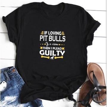 Koszulka t-shirt pies amstaff pitbull lato S-XXL