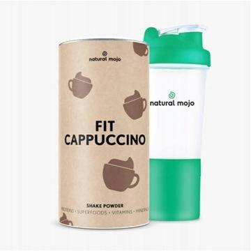 NATURAL MOJO FIT SHAKE-Zestaw Cappuccino+ shaker