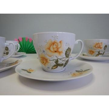 Zestaw kawowy porcelanowy Włocławek PRL Vintage