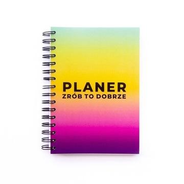 Planer niedatowany bez dat Beztroski kolor