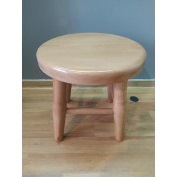 Taboret stołek drewniany okrągły