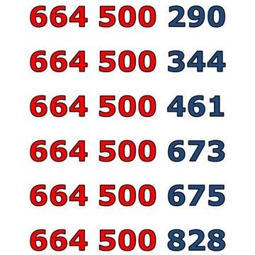 664 500 xxx ŁATWY ZŁOTY NUMER STARTER x 6