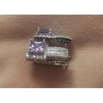 Srebrne Kolczyki srebro pr 925 Kryształy Swarovski