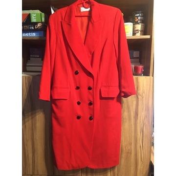 Givenchy płaszcz oryginalny damski czerwony okazja