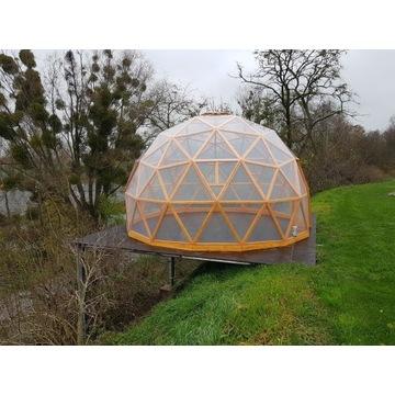 Kopuła geodezyjna szklarnia namiot sferyczny
