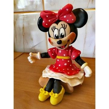 Myszka Minnie figurka na tort z masy cukrowej