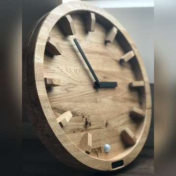 zegar ścienny dębowy 50cm