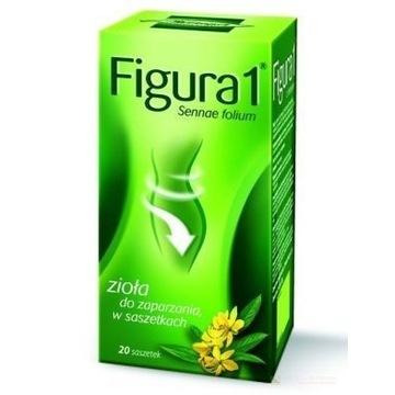 FIGURA 1 - zioła do zaparzenia, saszetki, 20 sztuk