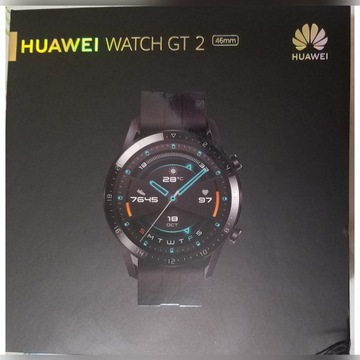 SMARTWATCH HUAWEI WATCH GT 2 46 MM GPS CZARNY NOWY