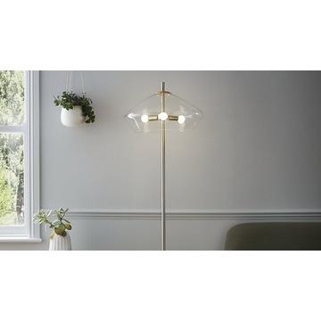 Lampa złota glamour Goodhome Capolin 3 x E14