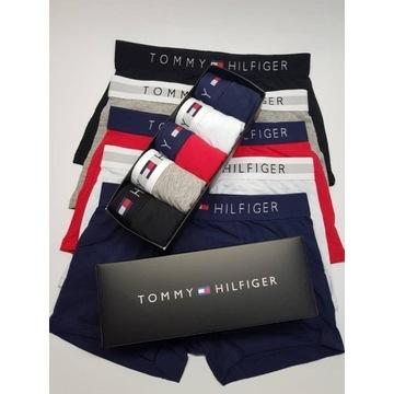 ORYGINALNE TOMMY HILFIGER! 4pack bokserki r.M/L/XL